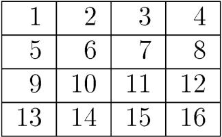 Нумерация клеток