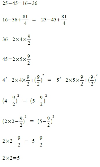 2x2=5